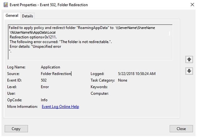 Folder Redirection Windows 10