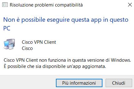 Cisco VPN Client su Windows 10