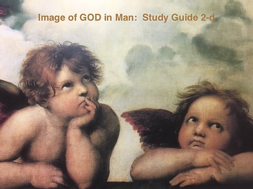 Study Guide 2-d:  Image of GOD in Man
