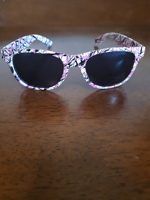 Pink & Black w/ White Frame