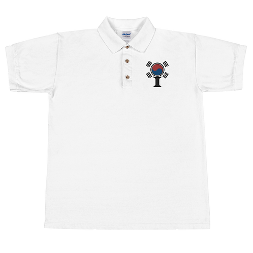 Inspired South Korea Embroidered Polo Shirt