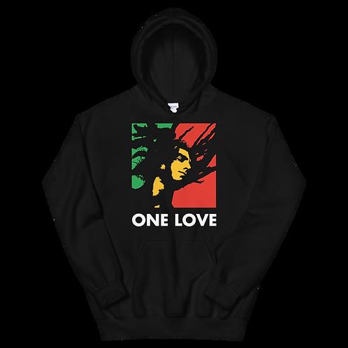 """Inspired """"ONE LOVE"""" Unisex Hoodie"""
