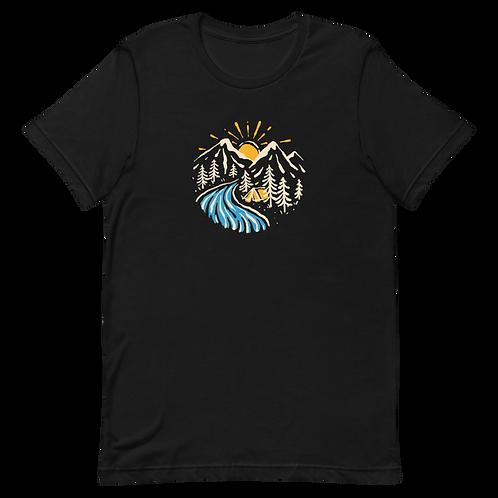 Colorful Mountainscape Unisex T-Shirt