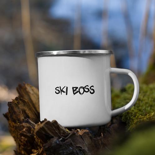 Ski Boss Enamel Mug