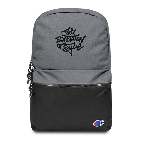 The Education of Style Embroidered Champion Backpack