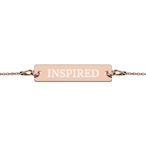 Inspired Name Engraved Silver Bar Chain Bracelet