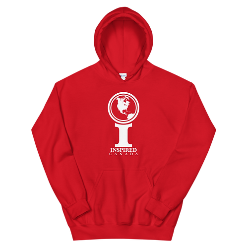 Inspired Canada Classic Icon Unisex Hoodie [White]