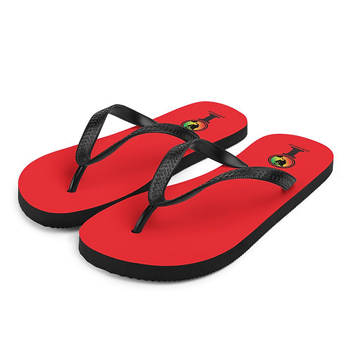 Inspired Red Classic Icon Flip-Flops