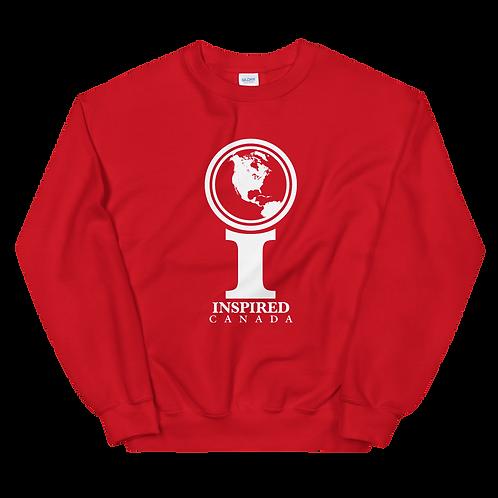 Inspired Canada Classic Icon Unisex Sweatshirt [White]