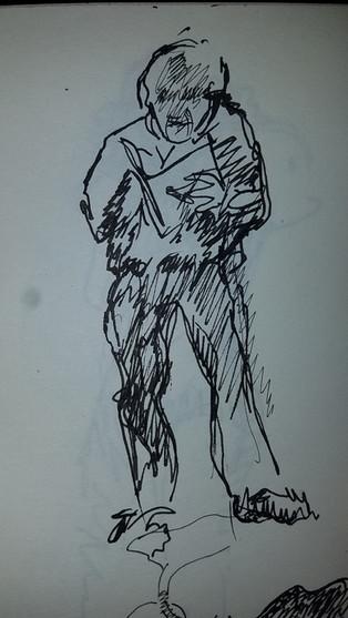 """4"""" X 6"""" Spencer Holst ink on paper"""