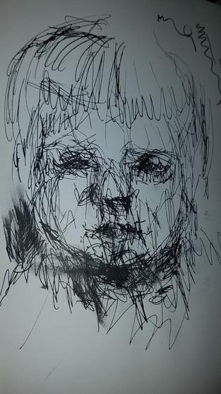 """4"""" X 6"""" Sebastian Holst ink on paper"""