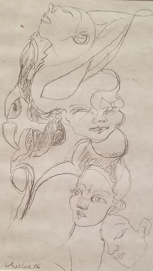 """8"""" X 10"""" pencil sketch"""