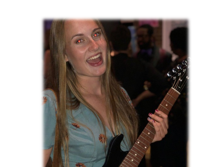 Catie w her GG guitar