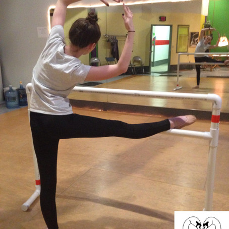 Using the Ballet Barre to Stretch for Splits