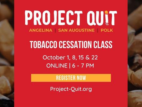 Fall Tobacco Cessation Classes
