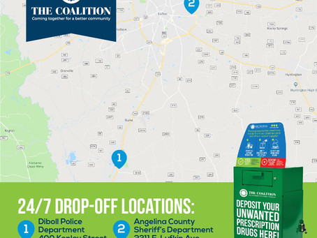Rx Drop Boxes in Angelina County