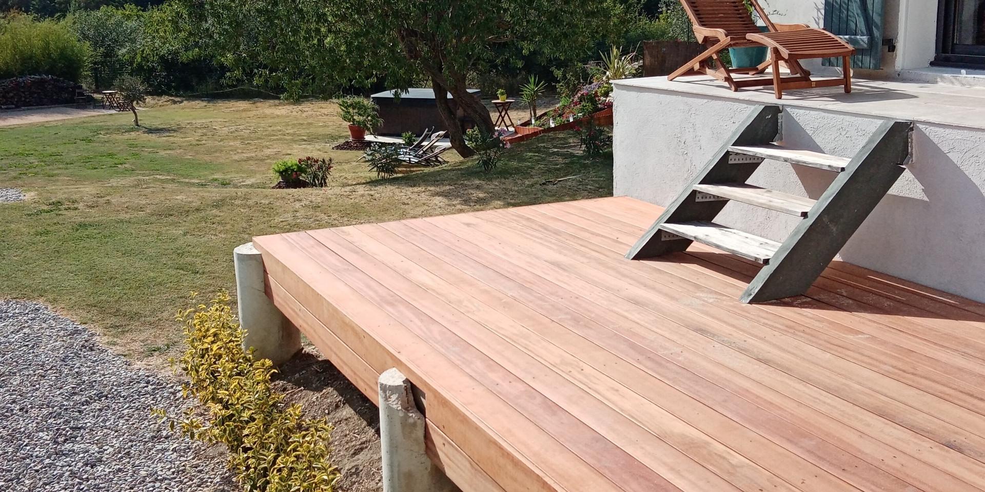 """Terrasse en bois exotique, """"Muiracatiara"""""""