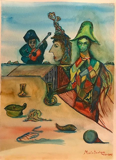 Picasso's Harlequin and Friends