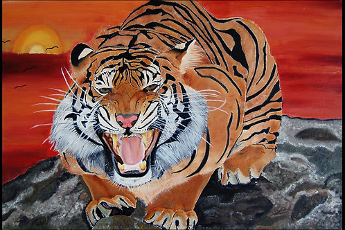 """""""Tiger On A Cliff"""" Print"""