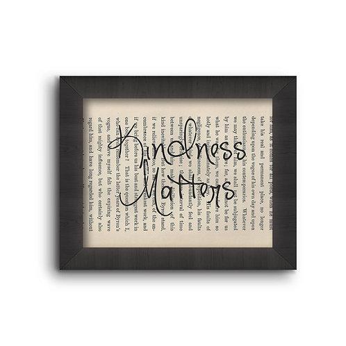 """Book Art """"Kindness Matters"""""""