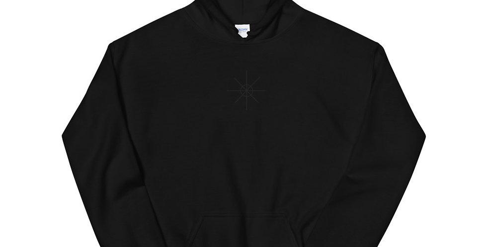 Black Hoodie w/ Black Embroidered Logo