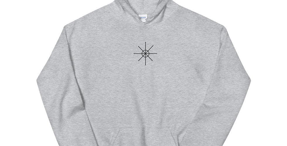 Sport Grey Hoodie w/ Black Embroidered Logo