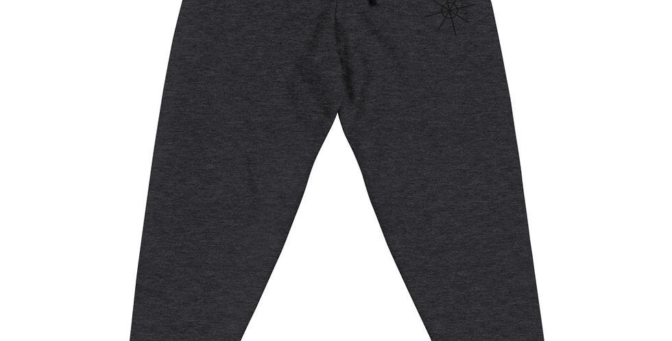 Dark Heather Joggers  w/ Black Embroidered Logo
