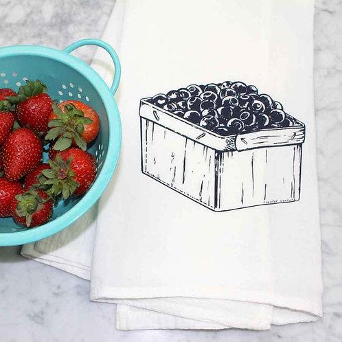 Blueberries Tea Towel