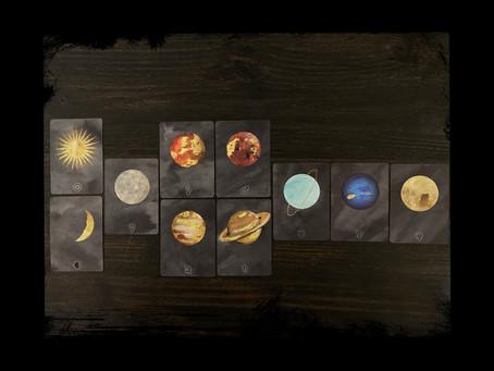 The Sun, Moon + Planets