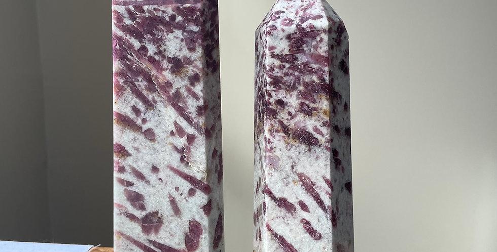 Tourmaline (Pink, Cut Towers)