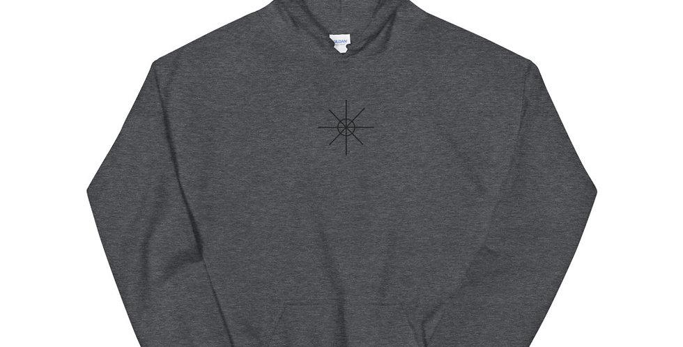 Heather Hoodie w/ Black Embroidered Logo
