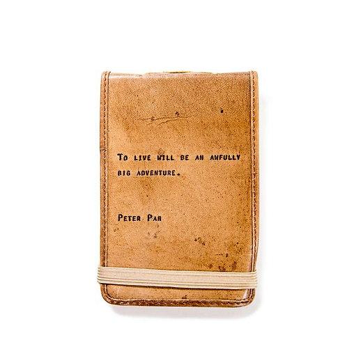 Mini Leather Journal - Peter Pan