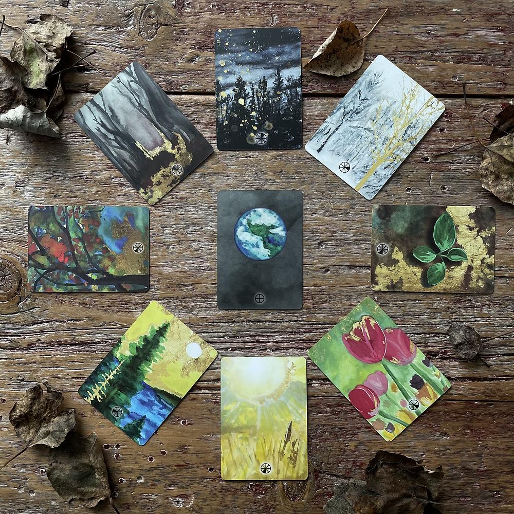 The 8 Seasonal Cards Included w/each deck