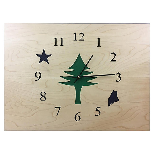 1901 Maine State Flag Clock