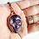 Thumbnail: Carved Chevron Amethyst Skull Necklace