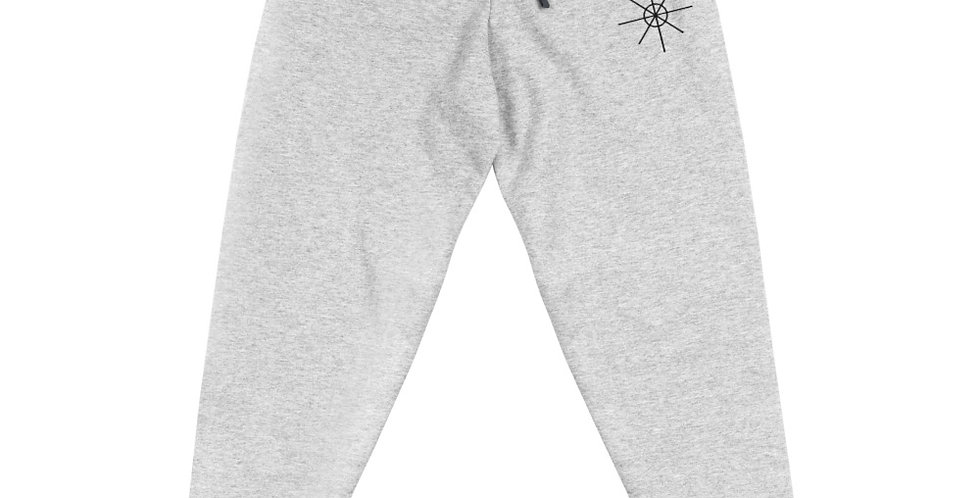 Grey Joggers w/ Black Embroidered Logo