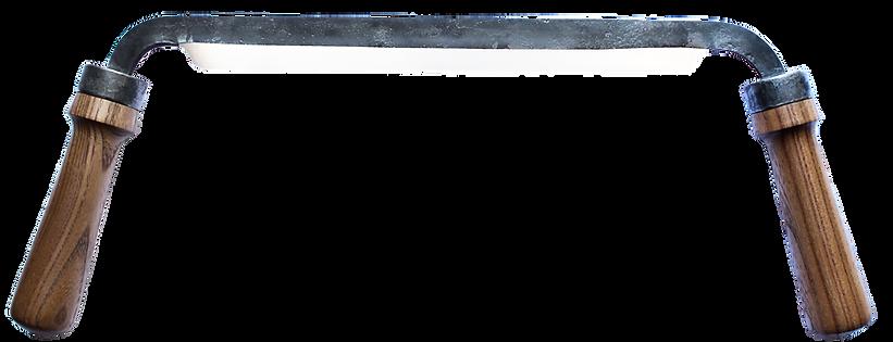handgeschmiedetes Zugmesser mit Holzgriffen