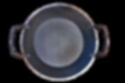 handgeschmiedete Eisenpfanne mit Henkel
