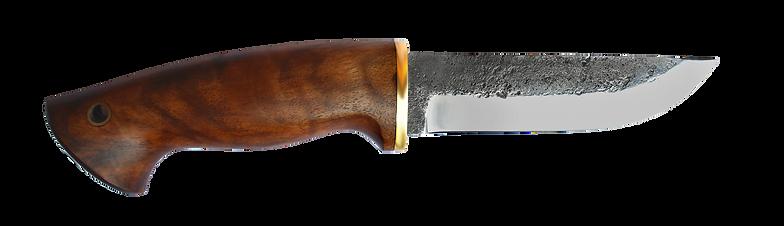 handgeshmiedetes Messer mi Nussbaumgriff