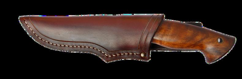 handgefertigtes Jagdmesser mit Lederscheide