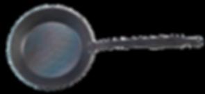 handgeshmiedete Eisenpfanne mit Stiel