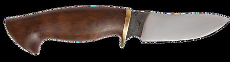 handgeschmiedetes Jagdmesser mit Lederscheide Thalyz Sanhiager