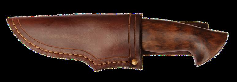 handgeschmiedete Jagdmesser mit Lederscheide