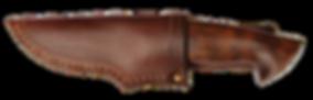 Jagdmesser mit Lederscheide Thalyz Sanhiager