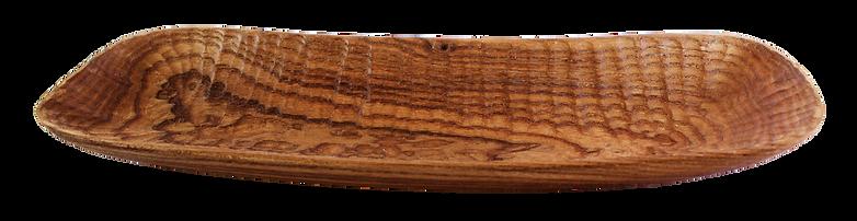 Holzschale länglich / Dekoschale