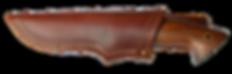 Jagdmesser mit Lederscheide