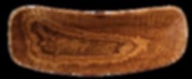 geschnitzte Holzschale länglich