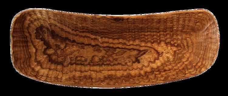 länglice Holzschale als Obstschale