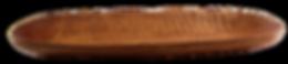 längliche Holzschale aus Ulmenholz