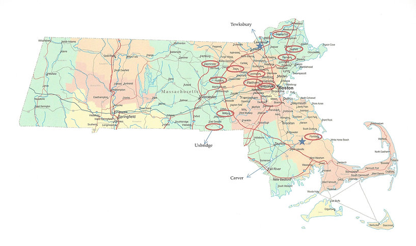 Coops delivered in these areas of MA